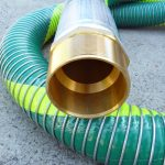A Brass CT Hex barb hose tail with 30 degree machined seat