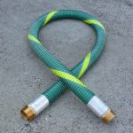 A CT Hex brass BSPT hose tail with extra length barb tail