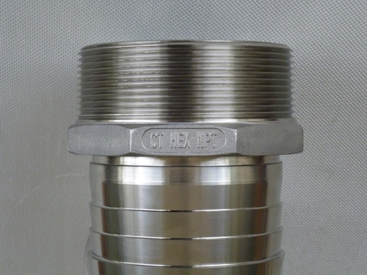 CT Hex - 30 Degree Machined Seat & Locking Groove for Crimp Ferrule