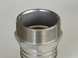 CT Hex hose tail BSPT thread with seat in stainless steel 316 grade 20 mm to 100 mm NB