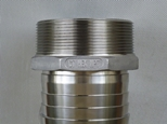 CT Hex hose tail NPT thread in stainless steel 316 grade 20 mm to 100 mm NB fully machined long tail