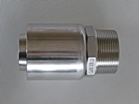 CT Hex stainless steel hose tail with crimp ferrule