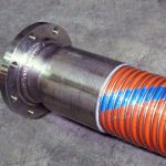 Chemical Code 969 composite hose with 6 inch flanged end