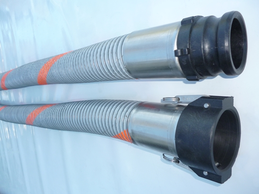 Chemicals and solvents Code 952 composite hose assemblies complete with polypropylene camlocks