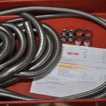 Fastlane Braided Stainless Steel Hose Assembly Works Order Prepared Ready For TIG Welding