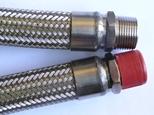 Flexible metal gas hose assembly