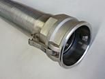 Industrial metal interlocked grain hose