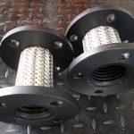 Metallic hose pump connectors