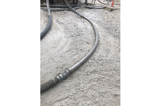 Our Packed Interlocked Hose Used For The Bulk Transport Of Lime And Sand
