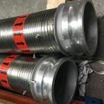 Packed Industrial Interlocked Hose With Stainless Steel Male CT Lock Camlocks