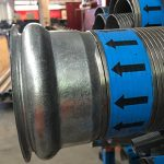 Packed Industrial Interlocked Hose With Travis Coupling Used On Vacuum Waist Collection Trucks