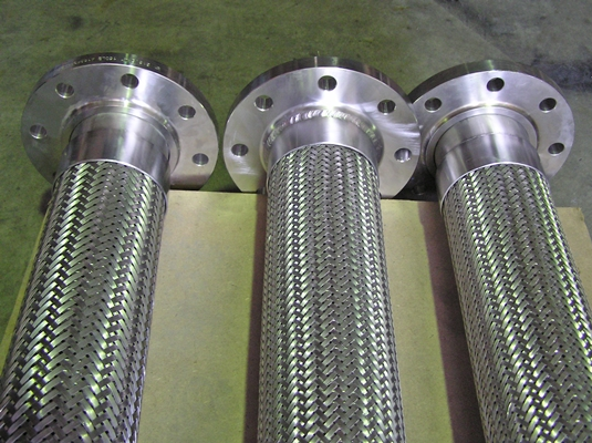Stainless Steel drop hoses 4 inch with fixed and floating flanges