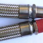 Stainless steel braided metallic hose assemblies