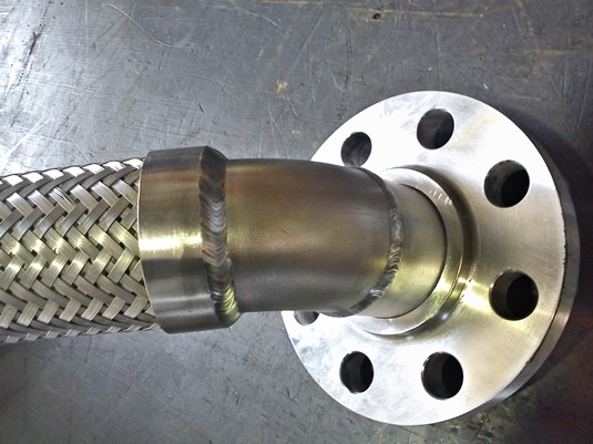 Stainless steel flexible metal hose with floating flange