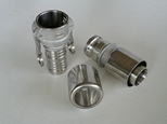 Stainless steel mil spec camlock coupling with crimp ferrule