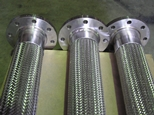 Standard flex hose assembly complete with stainless steel flanges