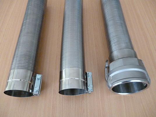 Stripwound interlocked metal hose range