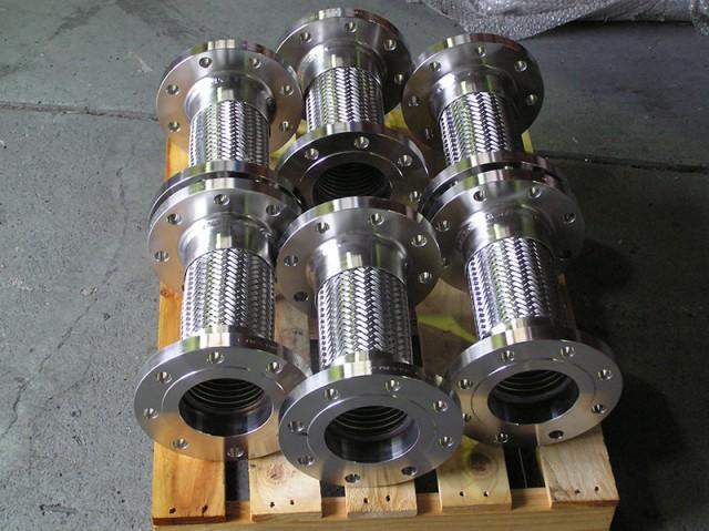 Flexible metal corrugated pump connector
