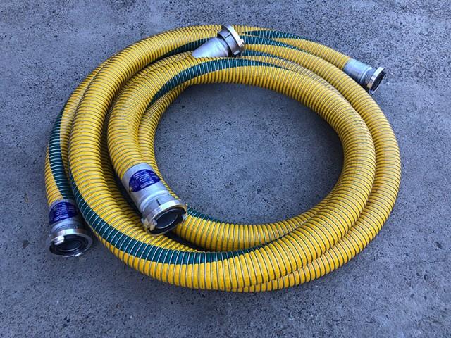 Convoluted Technologies Pty Ltd Code 1003 composite hose assemblies with aluminium Storz couplings each end.