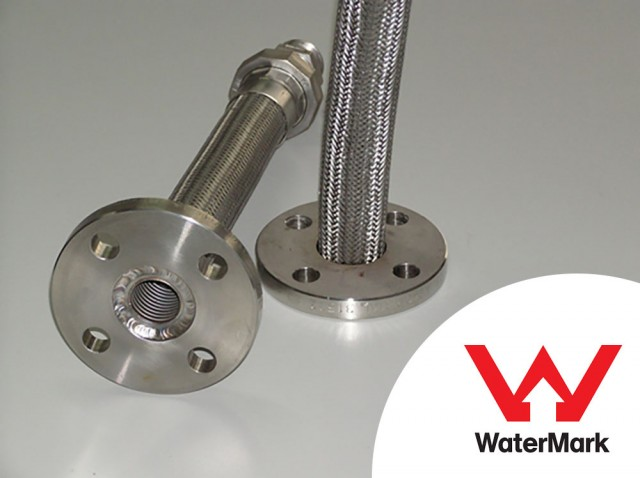 Flexible Metal Hose assemblies manufactured with Watermark Licence for drinking and non-drinking water applications.