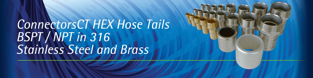 CT Hex Hose Tails - BSPT/NPT Threaded