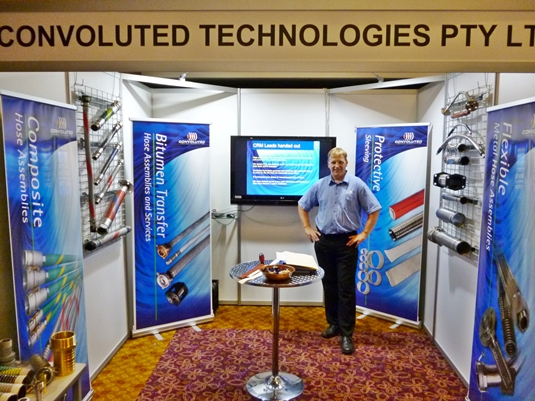 Convoluted Technologies Stand at Trade Show
