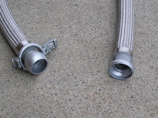 Annular Corrugated Stainless Steel Braided Hose With Bauer Interchangeable Couplings