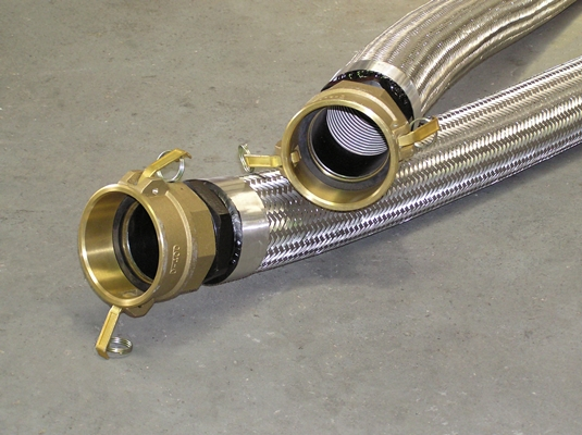 Metal Braided Hoses with Bronze Camlock end Fittings