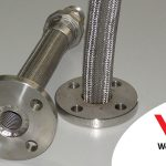 Convoluted-stainless-steel-Standard-Flex-hose-assemblies-complete-with-table-E-flange-and-male-union-opt